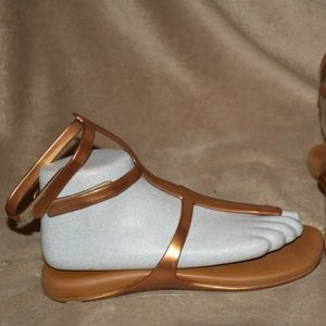 Melissa Gold Gladiator Ankle Strap Thong Sandal 7